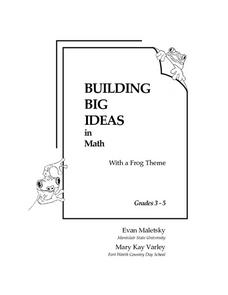 Building Big Ideas in Math: Frog Themed Worksheet