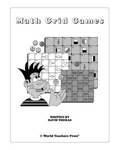 Math Grid Games Worksheet