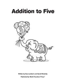 Addition to Five Worksheet