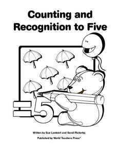 Counting and Recognition to Five Worksheet
