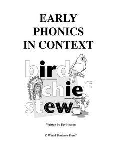 Early Phonics in Context: Bird Chief Stew Worksheet