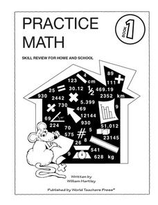 Practice Math Book 1 Worksheet