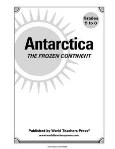 Antarctica The Frozen Continent Graphic Organizer