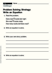 Problem Solving: Write an Equation Interactive