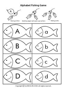 Alphabet Fishing Game Worksheet