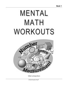 Mental Math Workouts Worksheet