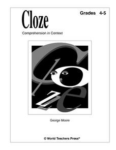 Cloze: Comprehension in Context Worksheet