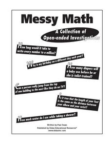 Messy Math Worksheet