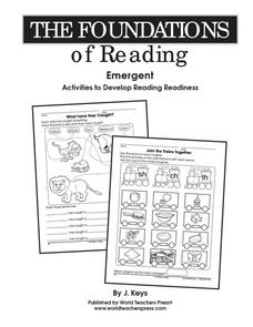 The Foundations of Reading Worksheet