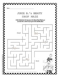 Junie B.'s Beauty Shop Maze Worksheet