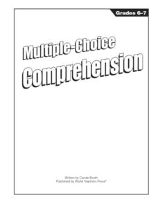 Multiple Choice Comprehension Worksheet