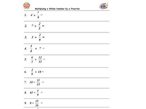 Multiplication: Fractions and Whole Numbers Lesson Plan