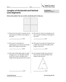 Lengths of Horizontal and Vertical Line Segments Worksheet