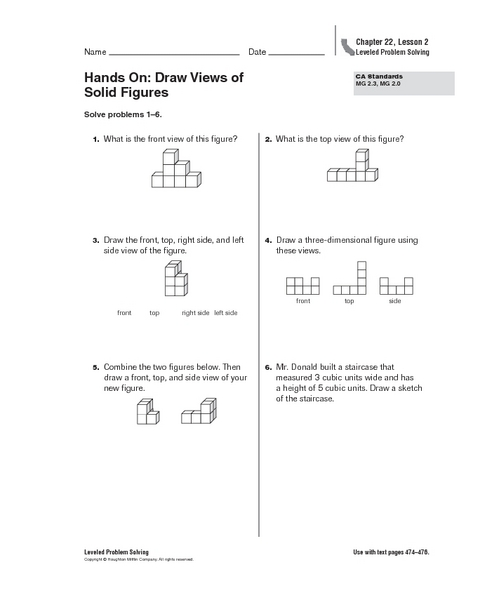 All Worksheets Views Of Solids Worksheets Printable Worksheets