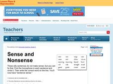 Sense and Nonsense Lesson Plan