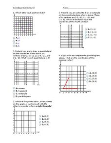 coordinate geometry worksheet for 8th 9th grade lesson planet. Black Bedroom Furniture Sets. Home Design Ideas