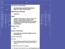 """Sir Cumference and the First Round Table"" by Cindy Neuschwander Lesson Plan"