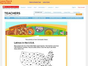Latinos in the U.S.A. Worksheet