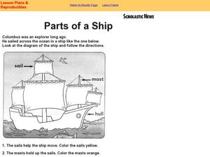 Parts of a Ship 2nd - 3rd Grade Worksheet | Lesson Planet