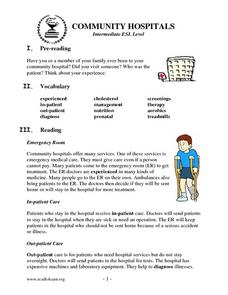Community Hospital Lesson Plan