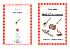 Topic Books: Musical Instruments Worksheet