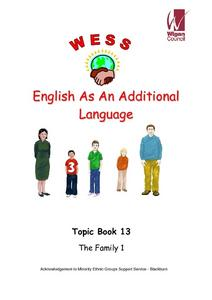 English as an Additional Language: Topic Book 13 The Family 1 Worksheet