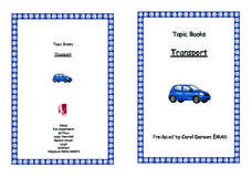 Topic Books: Transport Worksheet