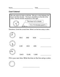 Cool Colons Worksheet