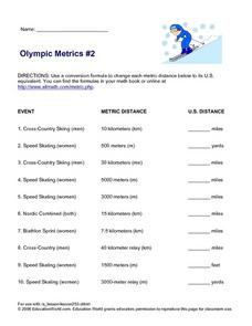 Olympic Metrics Lesson Plan