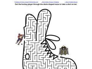 Hockey Maze Worksheet