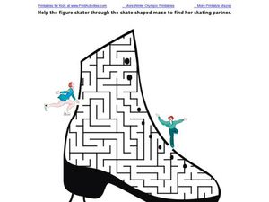 Figure Skating Maze Worksheet