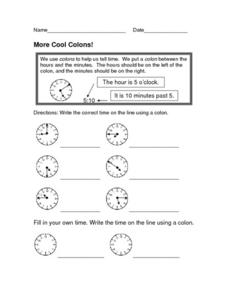 More Cool Colons! Worksheet