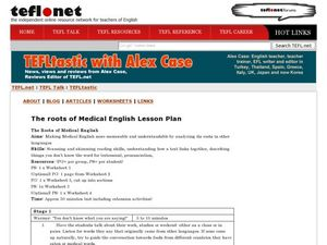 The Roots of Medical English Lesson Plan