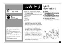 Seed Detectives Lesson Plan