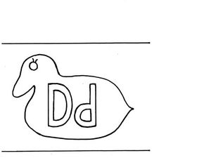 Letter D Flashcard Worksheet