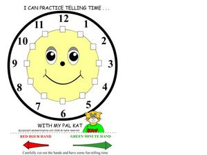 I Can Tell Time Worksheet
