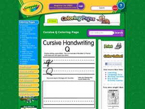Cursive Handwriting Q Worksheet