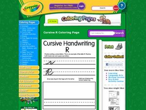 Cursive Handwriting Rr Worksheet