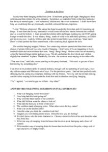 """Zombies at the Door"" Worksheet"