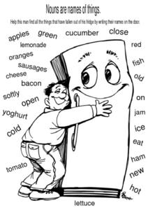 Nouns Are Names Of Things Worksheet