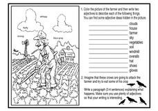 Farmer Coloring Page Worksheet