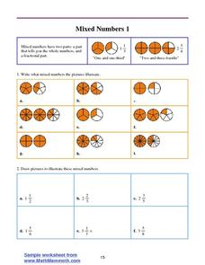 Mixed Numbers 1 Worksheet