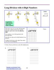 Long Division with 4-Digit Numbers Lesson Plan