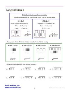 Long Division 1 Worksheet