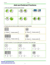 Add Like Fractions Worksheet
