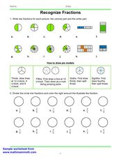 Recognize Fractions Worksheet