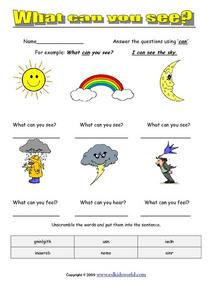 What Can You See? Worksheet