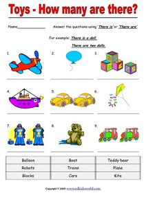 Toys - How Many Are There? Worksheet