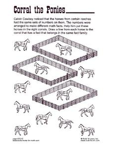 Corral the Ponies Worksheet