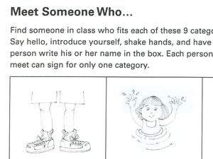 Meet Someone Who? Worksheet